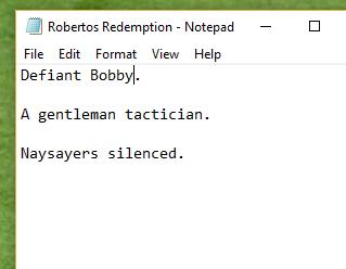 Robertos Redemption