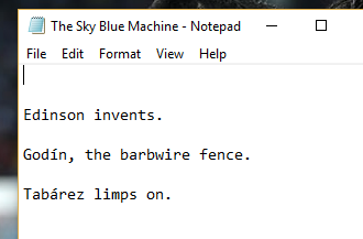The Sky Blue Machine